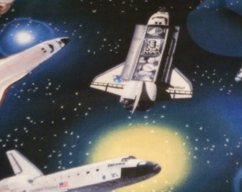 "Beautiful 100% Cotton Space Shuttle Fabric 36""  x 44"""