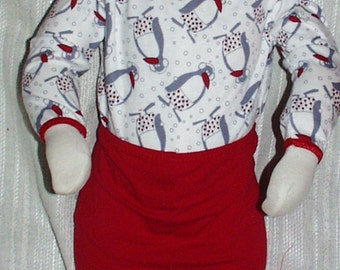 Baby or Toddler Holiday Festive Christmas Penguin Onesie ONLY  NB - Med 9 Mos Ships Free Inside US