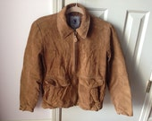Vintage Women's Tan Suede Jacket size Small