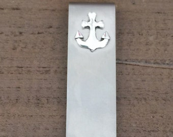 Anchor Money Clip, Silver Money Clip, Stainless Steel, Groomsmen Gifts