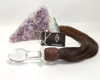 Glass Butt plug Horse hair flogger