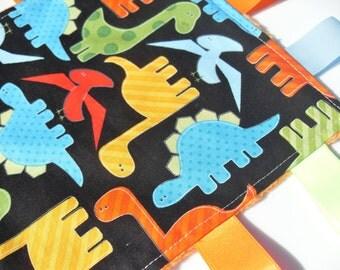 Minky Taggie Blanket Dinosaur Baby Boy taggy blanket