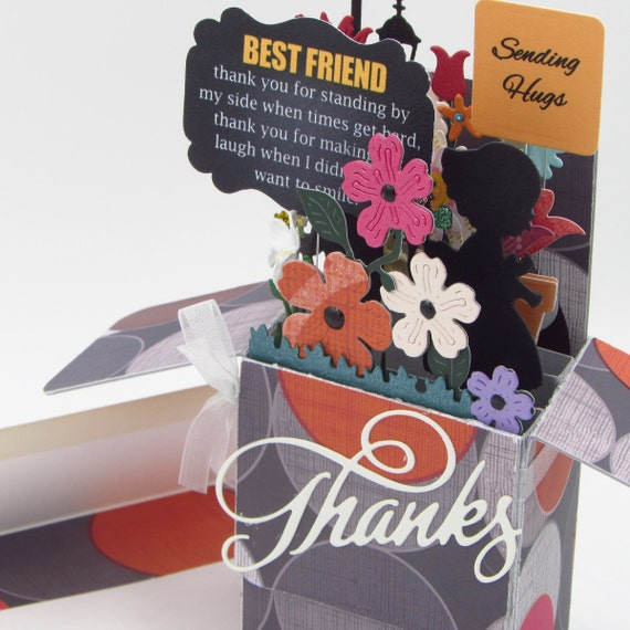 explosion box card thank you card in a box card for her