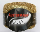 Clearance 43% Off  PALILA Metallic Lace yarn by Austermann 25g/0.88oz #002