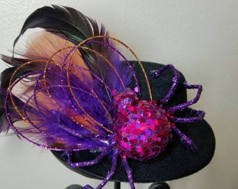 Halloween Web Queen Mini Top Hat Fascinator