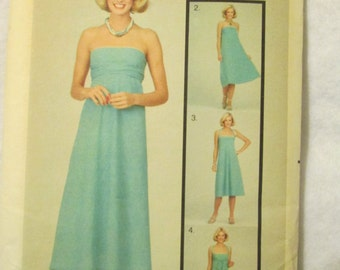 1970s Ladies 8 Way Wrap Tie and MULTIPLY DRESS Butterick Pattern
