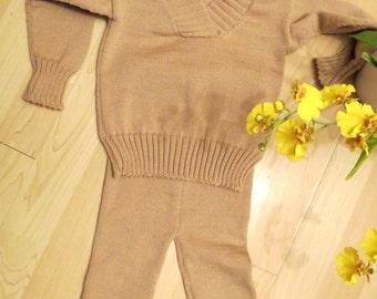 Knitted baby merino wool sweater