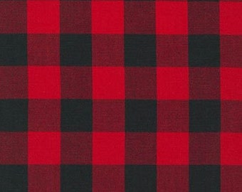 "Kaufman - Carolina Gingham 1"" - Scarlet"