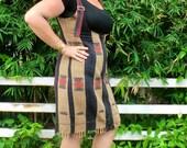 Naga Womens Tribal Dress, Bold Zippered Jumper With Fringe Hem - Jemma - Ethical Fashion