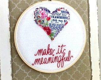 Embroidery Hoop Decor. Heart. Floral. Valentine's Day. Anniversary. Wedding. Couple Gift. Love. Kitsch Wall Art. Embroidery Art