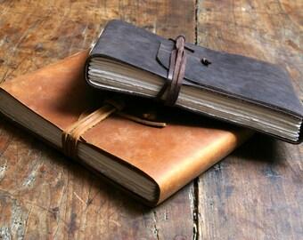 Landscape leather journal 16cm by 21.5cm