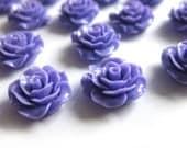 4 Pcs - 20mm Lilac Rose Cabochons