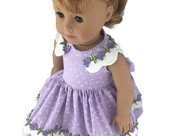 """Vintage Inspired 1950 dress to fit the American Girl and other 18"""" dolls"""