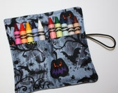 Halloween Bats Jacko'Lanterns Crayon Rolls, holds up to 10 Crayons,  Party Favors Crayon Rolls