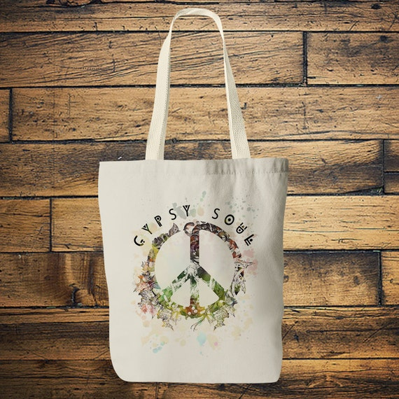 GYPSY SOUL TOTE - Yoga bag - Mandala - Hippie bag - Screen print - Back to school - Yoga - Tote Bag - Bag for Life - Boho - Student