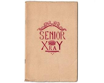 1920 Senior X Ray Fairbury Nebraska High School Yearbook Photos History, Genealogy Book, Class Photographs