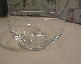 Tiffany Small Vintage Stamped Crystal Bowl
