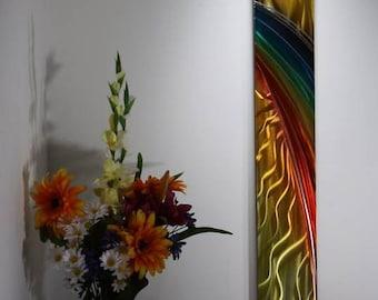 Wilmos Kovacs - Rainbow Art, Metal Wall Sculpture, Metal Wall Art Decor, Original Art - W131