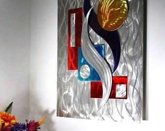 Wilmos Kovacs - Abstract Metal Sculpture, Metal Wall Art Decor, Rainbow Art, Original Art - W187