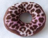 Dog Donut Toy Pink Frosting Chocolate Sprinkles