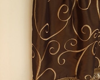 Valance - Embroidered Faux Silk w/embellishments