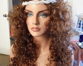 SPRING SALE - Natural Brown Wig - Hair - Hair Piece - 28 Inches - Curly Long - Emo - Cosplay - Rockabilly - Hair Accessory Included