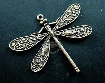 50%OFF 6pcs 40x50mm vintage style antiqued bronze big droganfly DIY pendant charm supplies 1810384