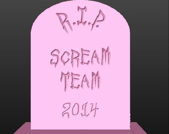 Personalized Foam Tombstone Trophy Halloween Party Decorations