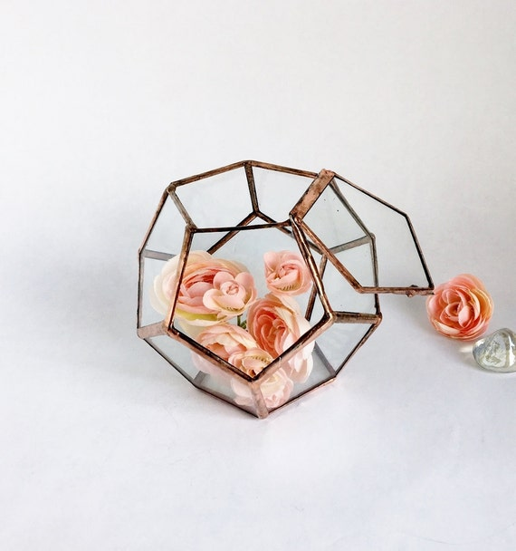 Geometric glass planter terrarium handmade glass for Indoor gardening glasses