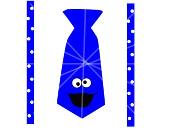 SVG - Cookie Monster SVG - Cookie Monster Onesie - New Baby - Onesie Svg - Sesame Street - Cookie Monster - Suspenders Onesie - Cricut