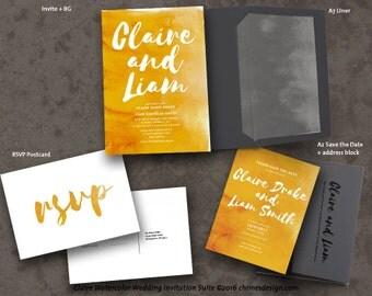 CLAIRE (Watercolor) Invitation Suite Printables