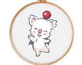 Final Fantasy Moogle cross stitch pattern, Instant Download, cute cross stitch, Free shipping, PDF featured image