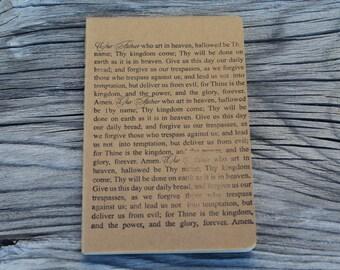 Mini Lords Prayer Christian Catholic Journal Pocket Note Pad