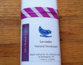 All Natural Deodorant, LAVENDER,  Essential Oil, On a Branch Soaps