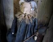 Primitive Halloween Witch and Her Owl > Folk Art Decor > Halloween Prop