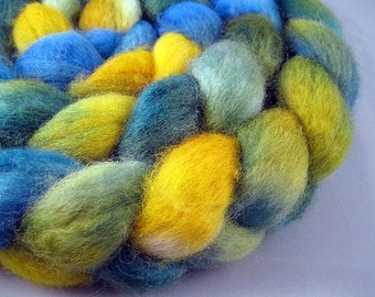MORNING GLORY - Handpainted BFL Wool Roving, 4 oz.