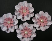 4 Scrapbook Flowers, Scrapbook embellishment, Cards, Decorating, Weddings,Banners