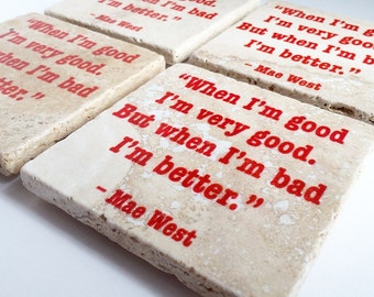 The Vintage Lover Collection, Handmade Tumbled Tile Coasters