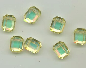 12 vintage Swarovski crystal beads - Art. 5105 - 12.5 x 10 mm - jonquil AB