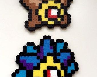 Staryu/ Starmie Pokemon Perler Bead Sprite