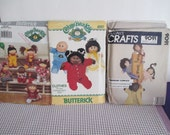 Vintage Doll clothes Patterns --Cabbage Patch--Butterick 6507-5720-Mccalls 9091
