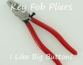 Key Fob Hardware Setting/Crimping Pliers/Wristlet Assembly Tool (Ships from the USA) For Ribbon/Fabric Key Fob Hardware