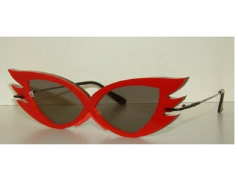 Anime winged V with lens cosplay costume glasses