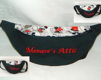Disney Mickey and Minnie Comic Strip Fanny Pack With or Without Embroidered Name - Children to Adult Sizes