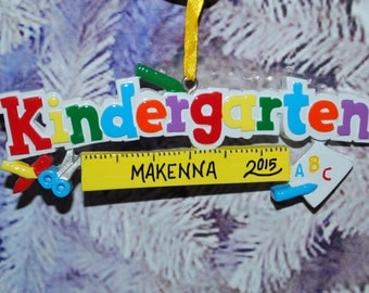 Personalized Kindergarten Christmas Ornament