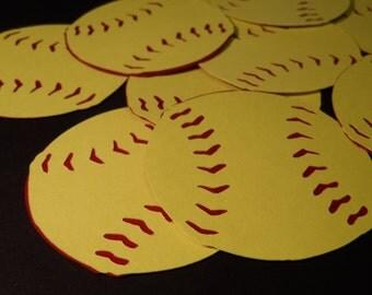 2 inch Softballs / Baseballs ~  embellishments ~  die cuts  ~ decorations ~ cupcake toppers  ~ confetti