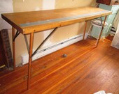 Reserve Paige Antique Wooden Wallpaper Folding Table Warner Tools Pick Up Only