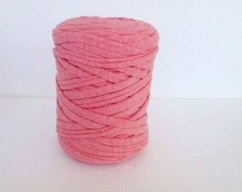 T-Shirt yarn, cotton cord, soft coral t shirt yarn, cotton yarn, Necklaces Bracelets, home decor,
