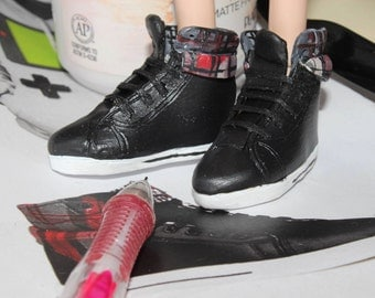 1:6 scale high top doll shoes for ken fashion royalty ever after high taeyang isul polymer clay shoes