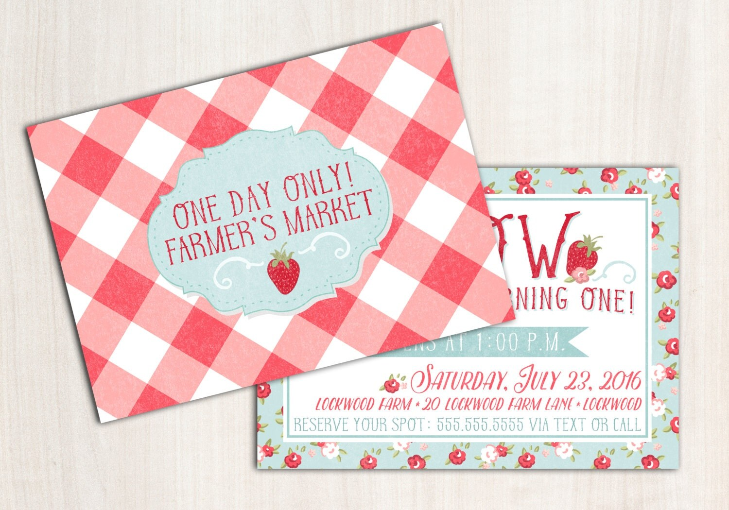 Farmer's Market Invitation - Country picnic party - Farmers Market Party Supplies